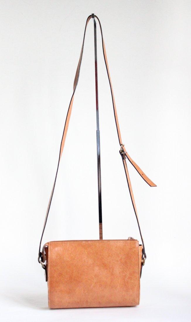 Perry Ellis Portfolio Leather Shoulder Bag ca.1980s-90s - 2
