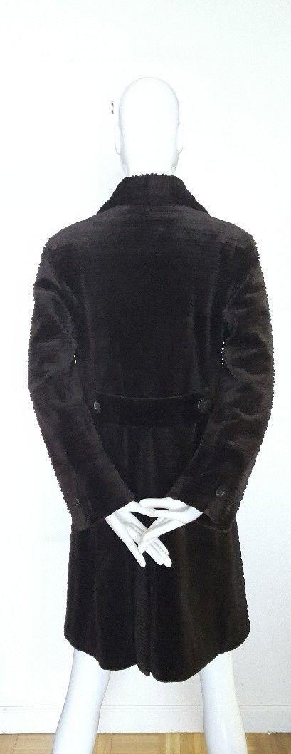 Fendi Alta Moda Couture Striped Sheared Mink Fur Coat - 3