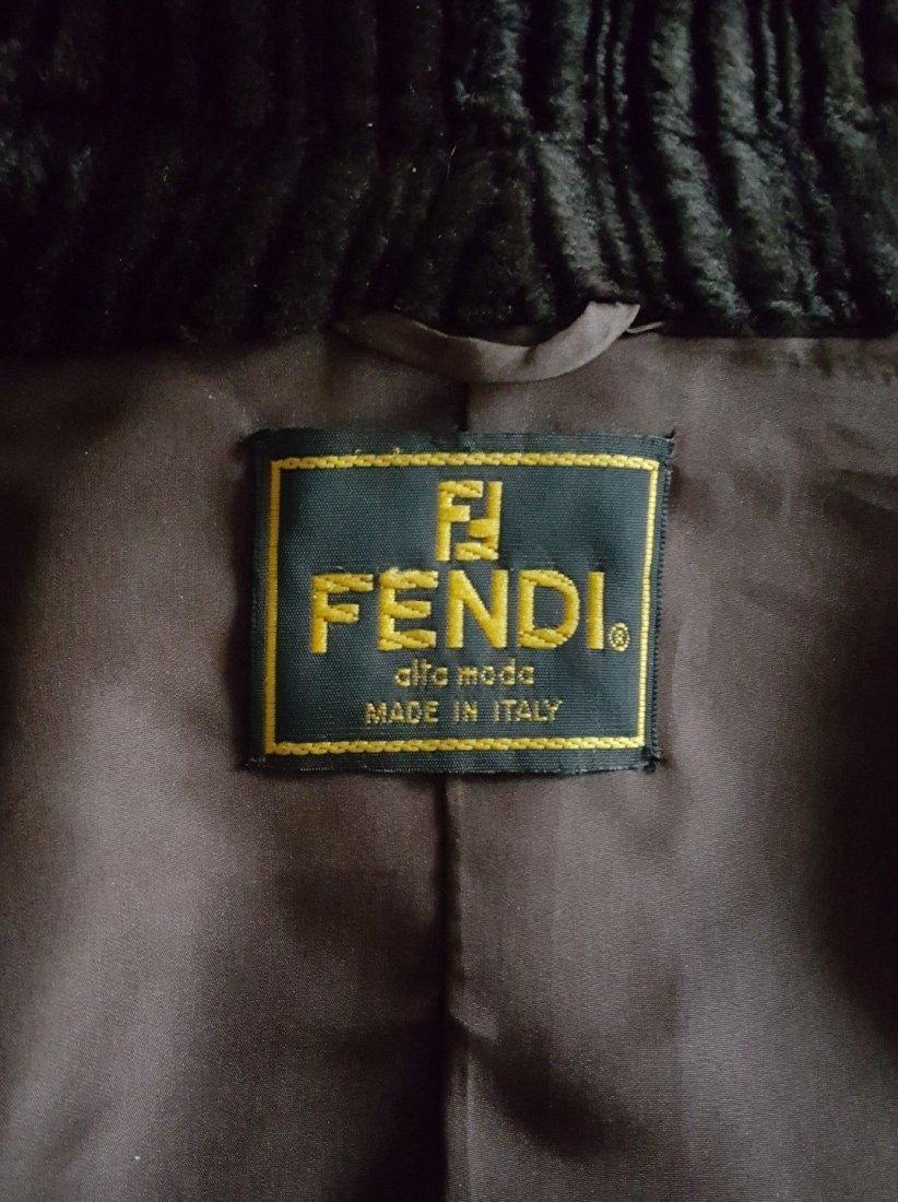 Fendi Alta Moda Couture Striped Sheared Mink Fur Coat - 5