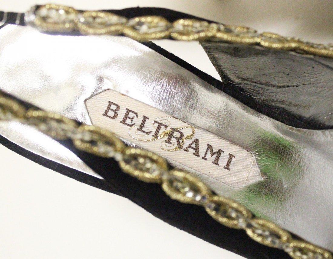 Beltrami Italian Couture Black Suede Sandals, ca. 1960s - 4