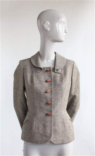 Sybil Connolly Haute Couture Tweed Jacket 1950s