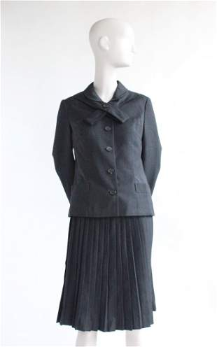 Christian Dior London Gray Wool Suit ca late 1950s