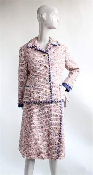 Sutin of Mayfair Chanel Copy Tweed Suit ca 1965