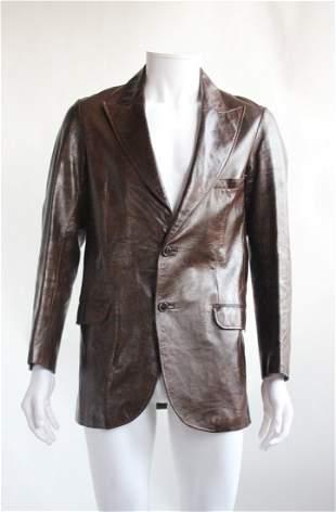 Pierre Cardin Paris Leather Mens Jacket ca 1970s