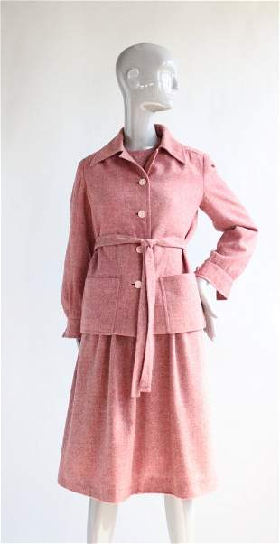 Diorling by Christian Dior Pink Dress Suit ca 1972