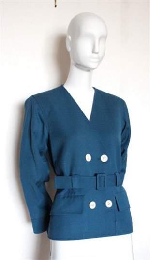Yves Saint Laurent Rive Gauche Blue Jacket ca 1970s