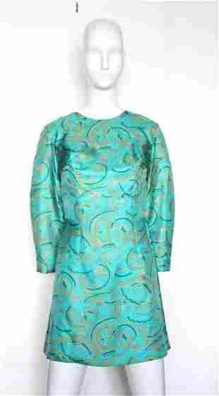 Martha Palm Beach Miami NY Silk Floral Dress c1960s