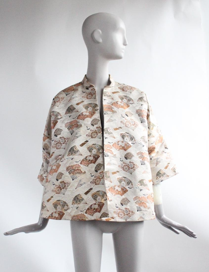 Japanese Silk & Metallic Brocade Jacket, ca. 1940's