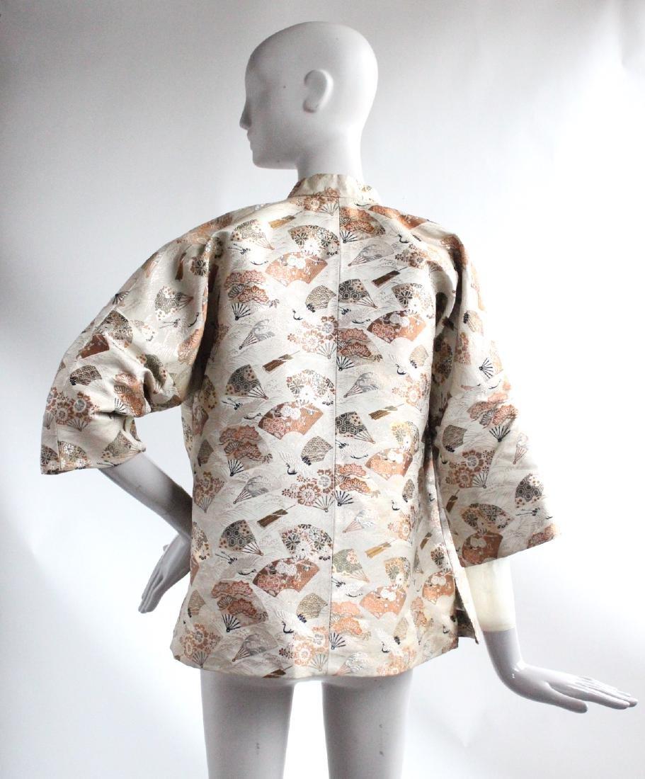Japanese Silk & Metallic Brocade Jacket, ca. 1940's - 2