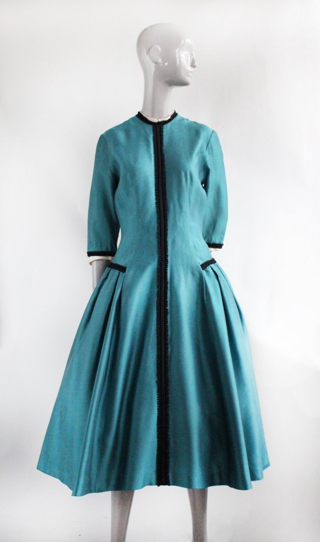 Parklane Juniors Teal Green Dress, ca. 1950's