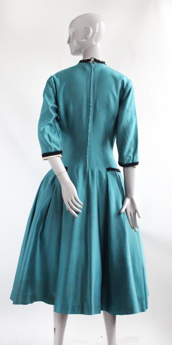 Parklane Juniors Teal Green Dress, ca. 1950's - 3
