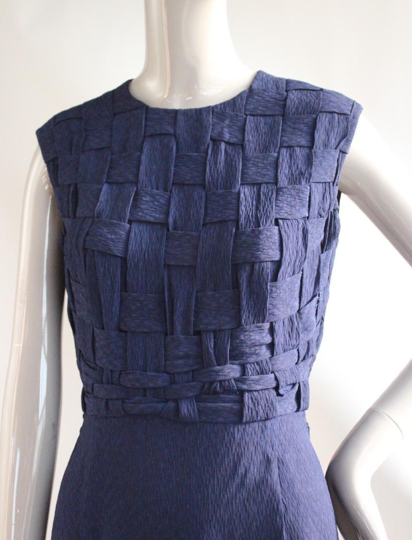 Santogostino Navy Blue Silk Dress, ca. 1960's - 2