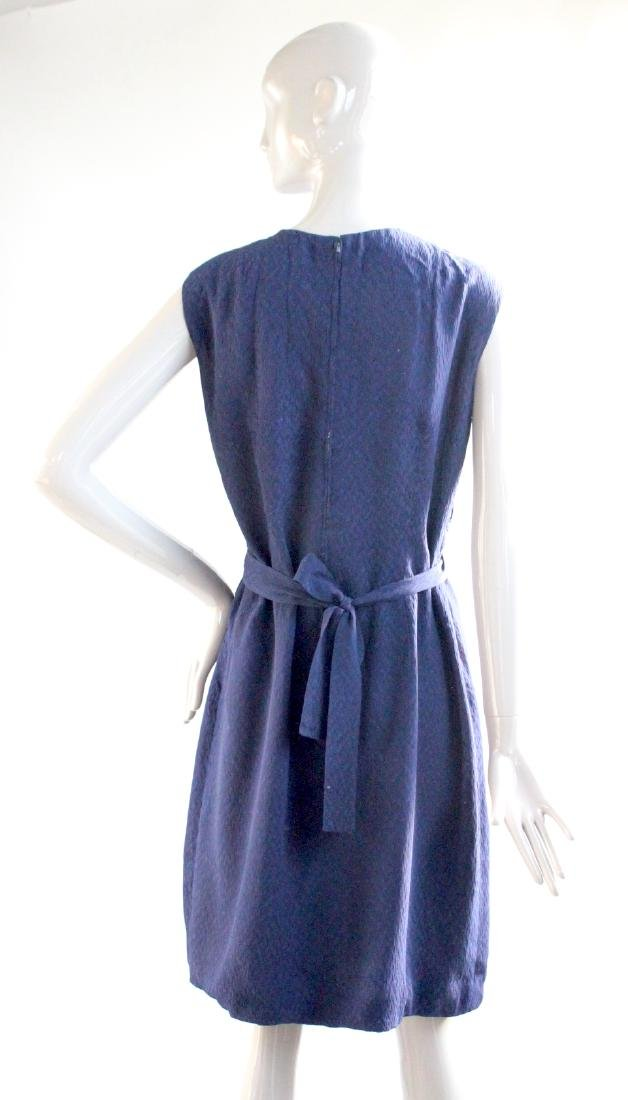 Santogostino Navy Blue Silk Dress, ca. 1960's - 3