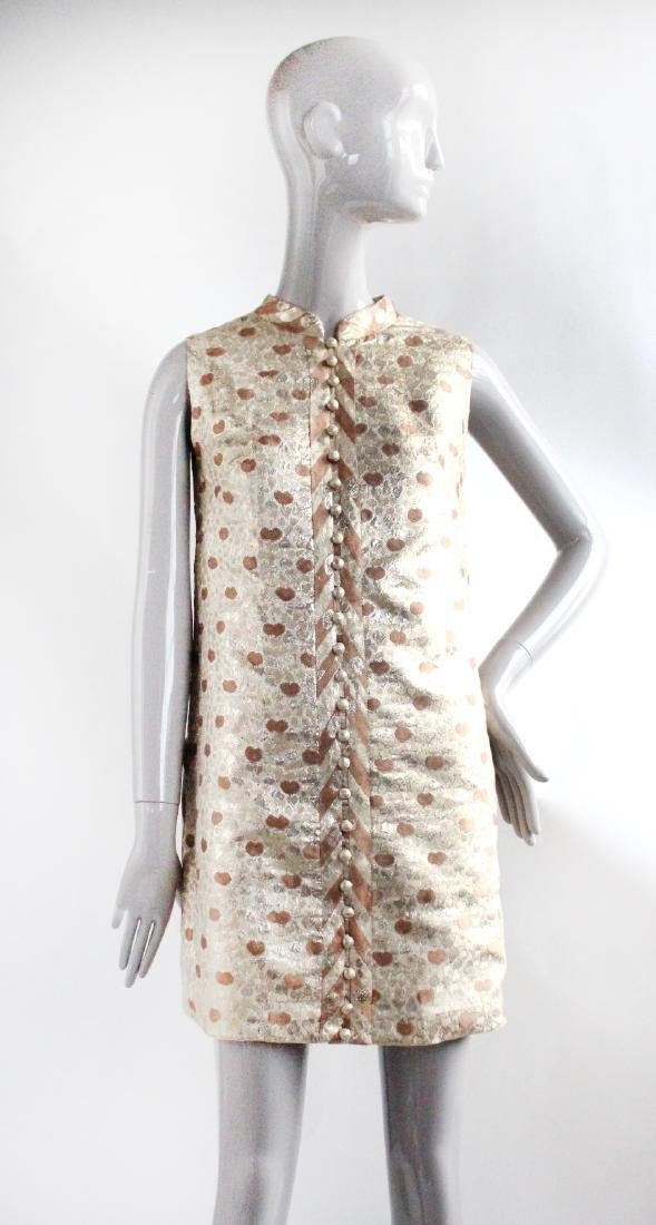 Chergui Haute Couture Algeria Brocade Dress, 1960's