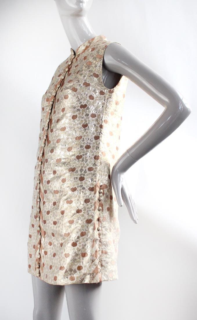 Chergui Haute Couture Algeria Brocade Dress, 1960's - 2