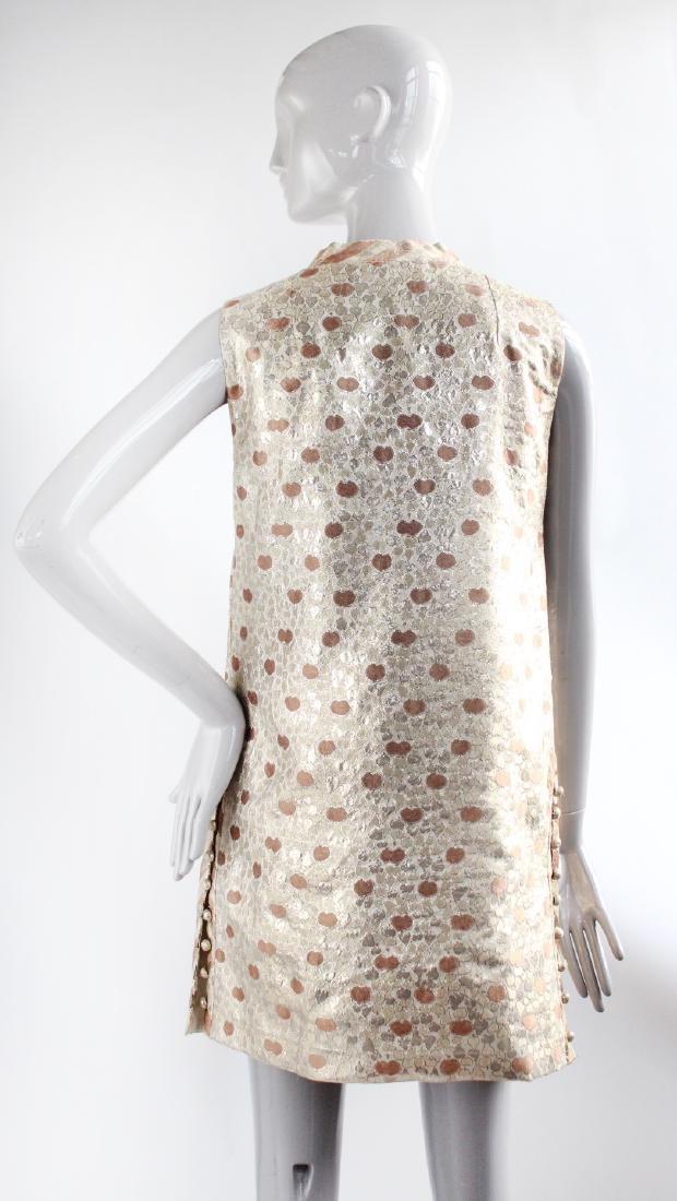 Chergui Haute Couture Algeria Brocade Dress, 1960's - 3