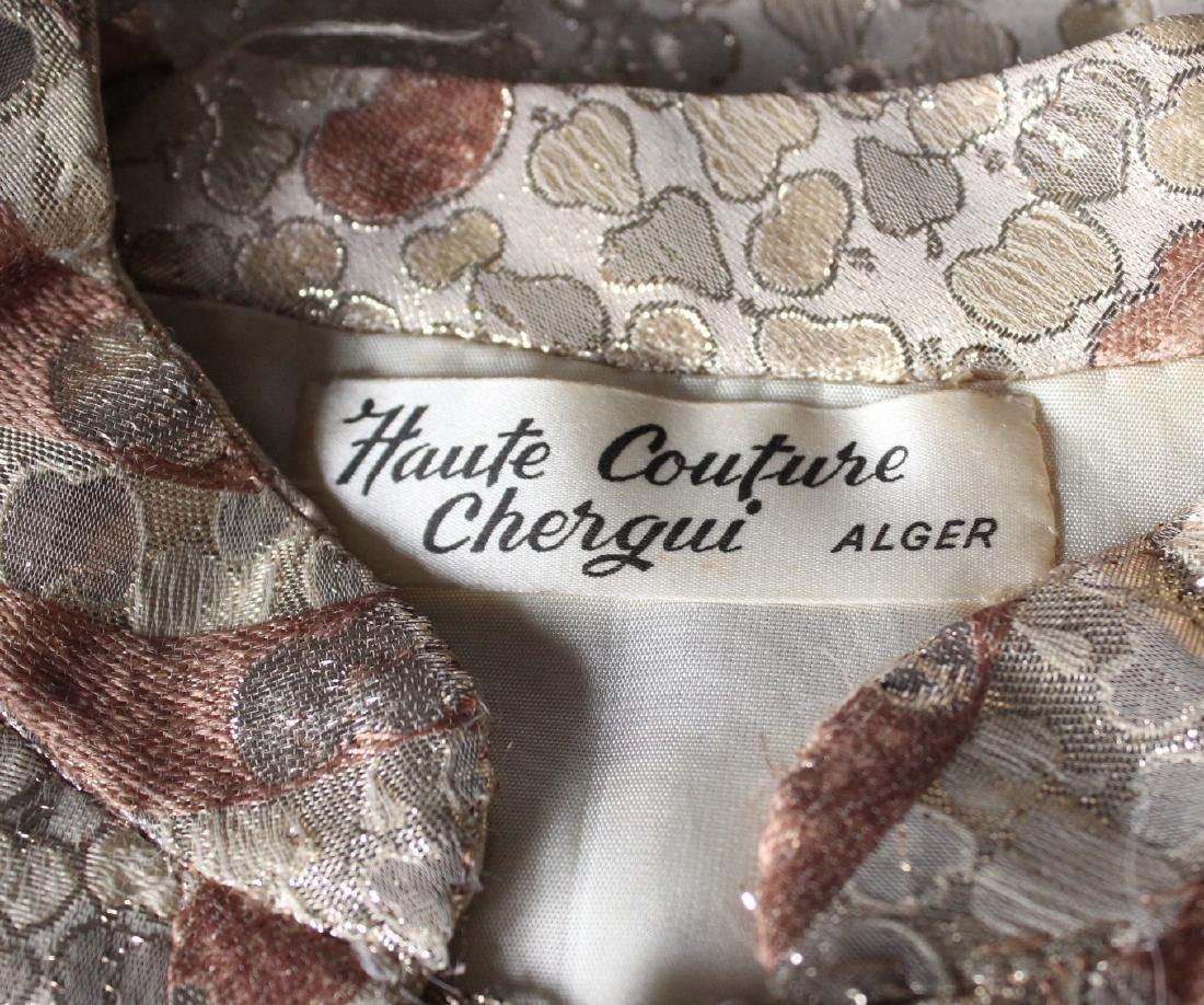 Chergui Haute Couture Algeria Brocade Dress, 1960's - 4