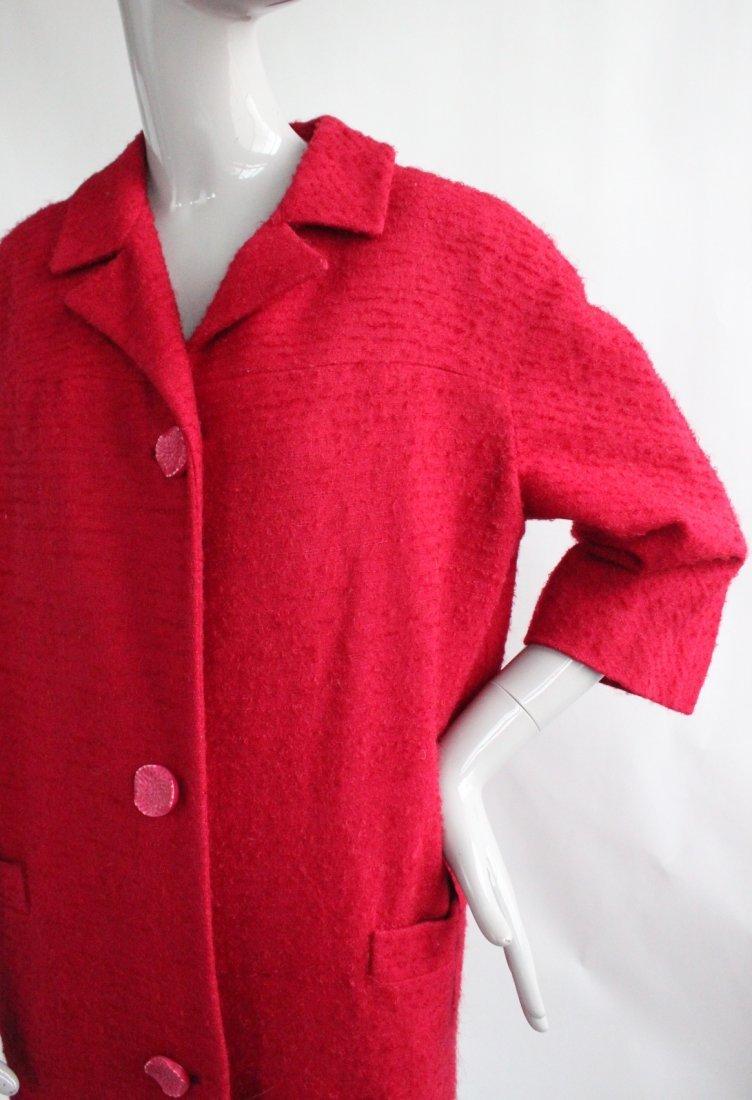 Saks Fifth Avenue Protegee Red Tweed Coat, 1960's - 2