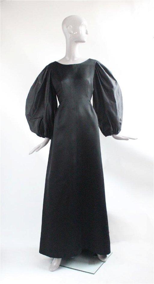 e337faea506c Balenciaga Haute Couture Black Satin Dress, 1965 - Oct 7, 2018 ...