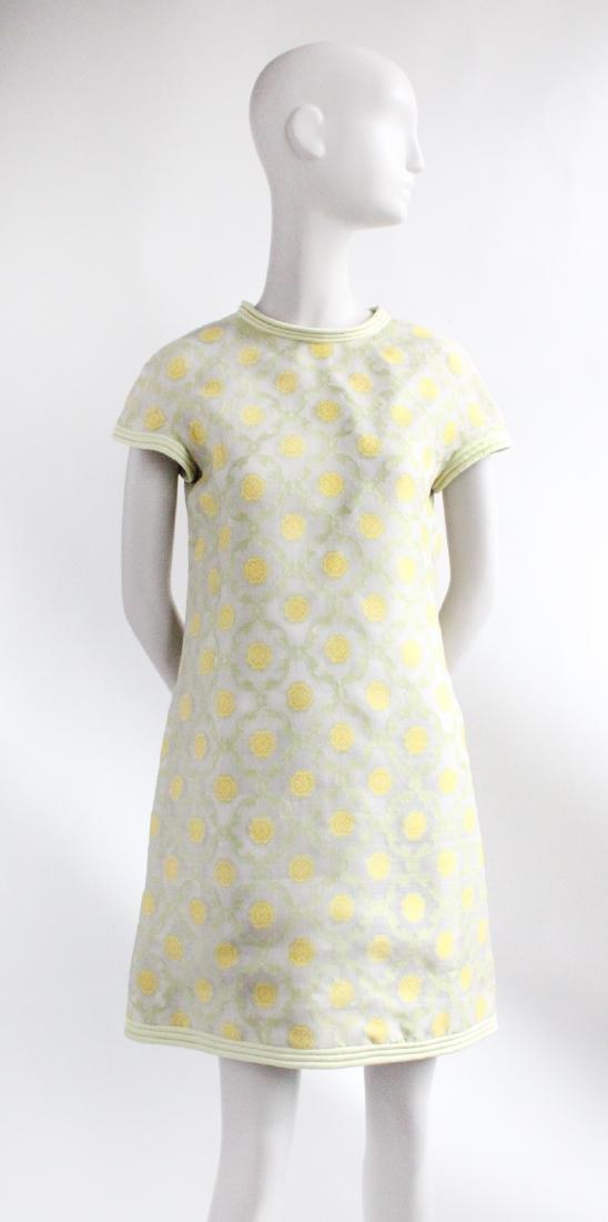 Pierre Cardin Demi Couture Silk Dress, ca.1967