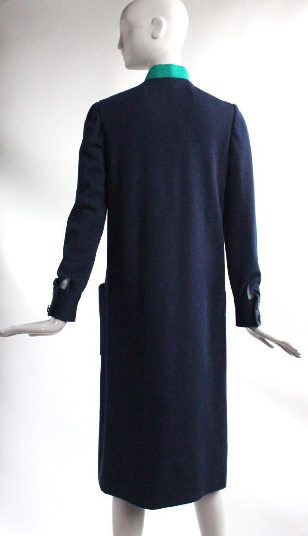 Norman Norell Blue & Green Wool Knit Dress, c1960's - 3
