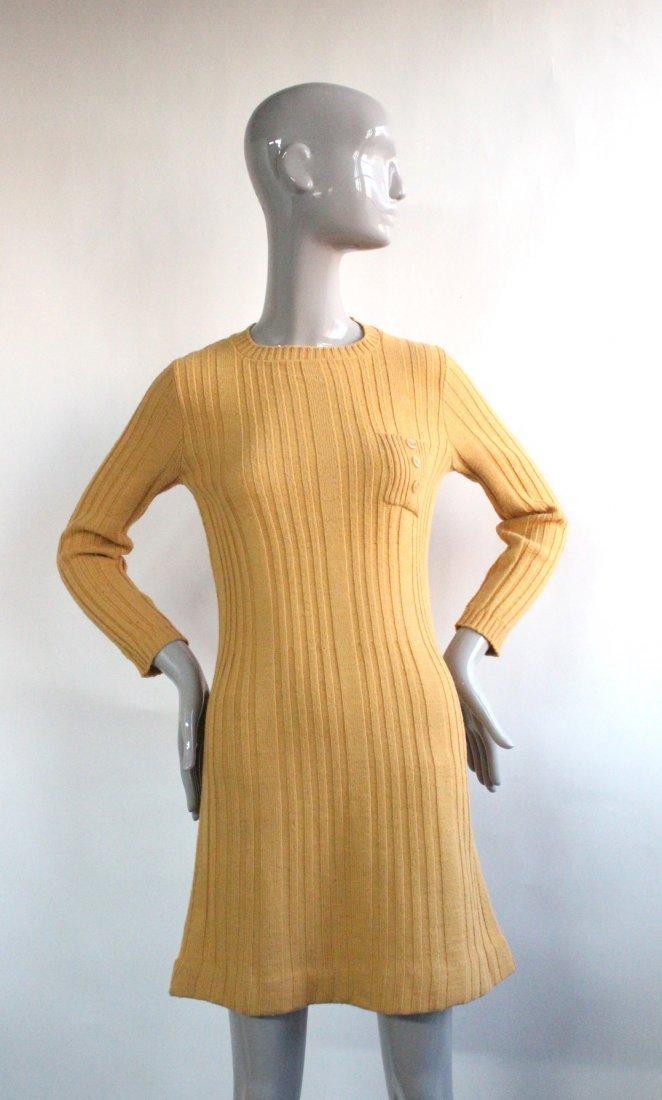 Neiman Marcus Italy Wool Knit Mini Dress, ca. 1960's