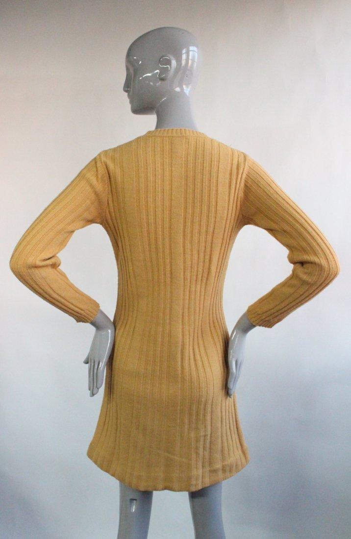 Neiman Marcus Italy Wool Knit Mini Dress, ca. 1960's - 2