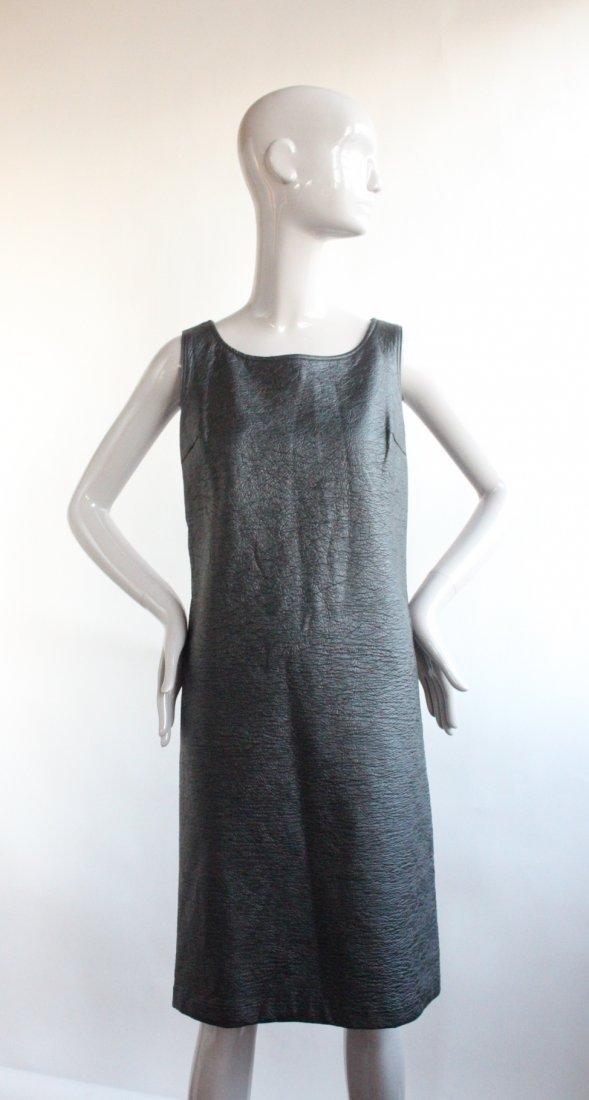 Vybretta Black Vinyl Mod Dress, ca. late 1960's