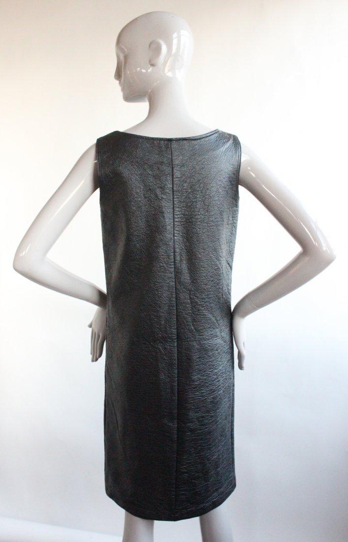 Vybretta Black Vinyl Mod Dress, ca. late 1960's - 2