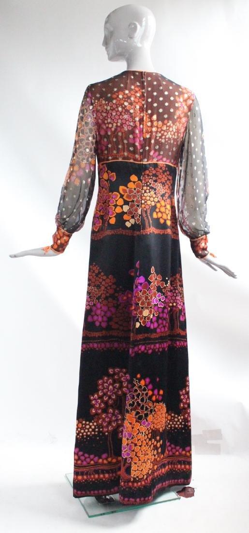 Chloe by Lagerfeld Floral Silk Maxi Dress, ca.1960's - 2