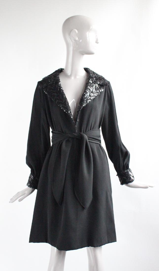 Oscar de La Renta Couture Black Dress, ca.1960's