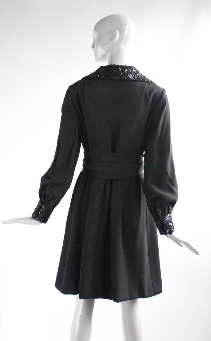 Oscar de La Renta Couture Black Dress, ca.1960's - 3