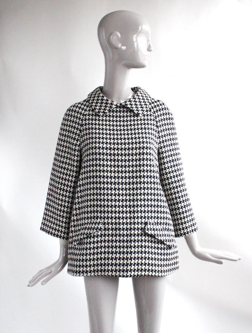 Geoffrey Beene Black & White Wool Tunic, ca. 1960's