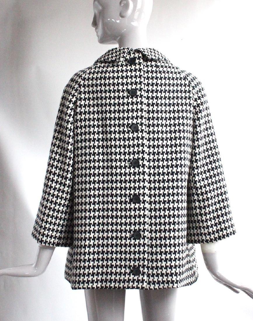 Geoffrey Beene Black & White Wool Tunic, ca. 1960's - 2