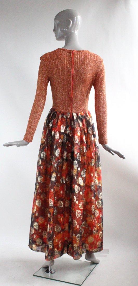 Futura Couture of New York Maxi Dress, ca. 1970s - 2
