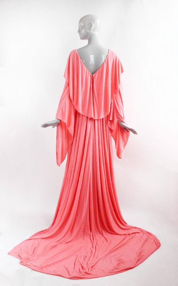 Mollie Parnis Couture Silk Jersey Evening