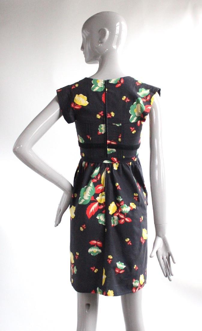 Sonia Rykiel for Henri Bendel Floral Cotton Dress 1970s - 2