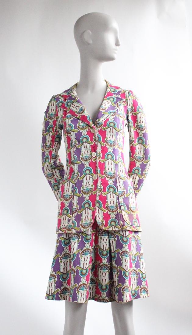 Domitilla Veneziano Printed Cotton Suit, ca.