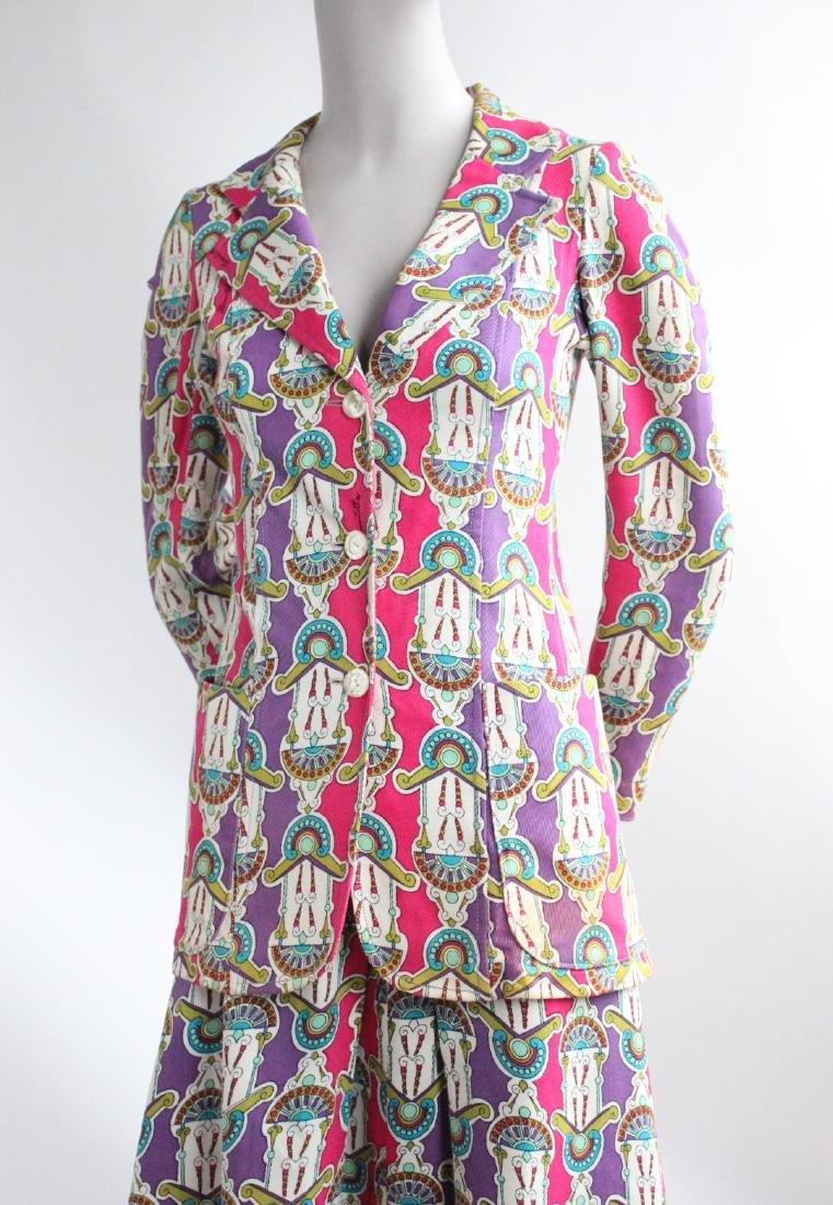 Domitilla Veneziano Printed Cotton Suit, ca. - 2