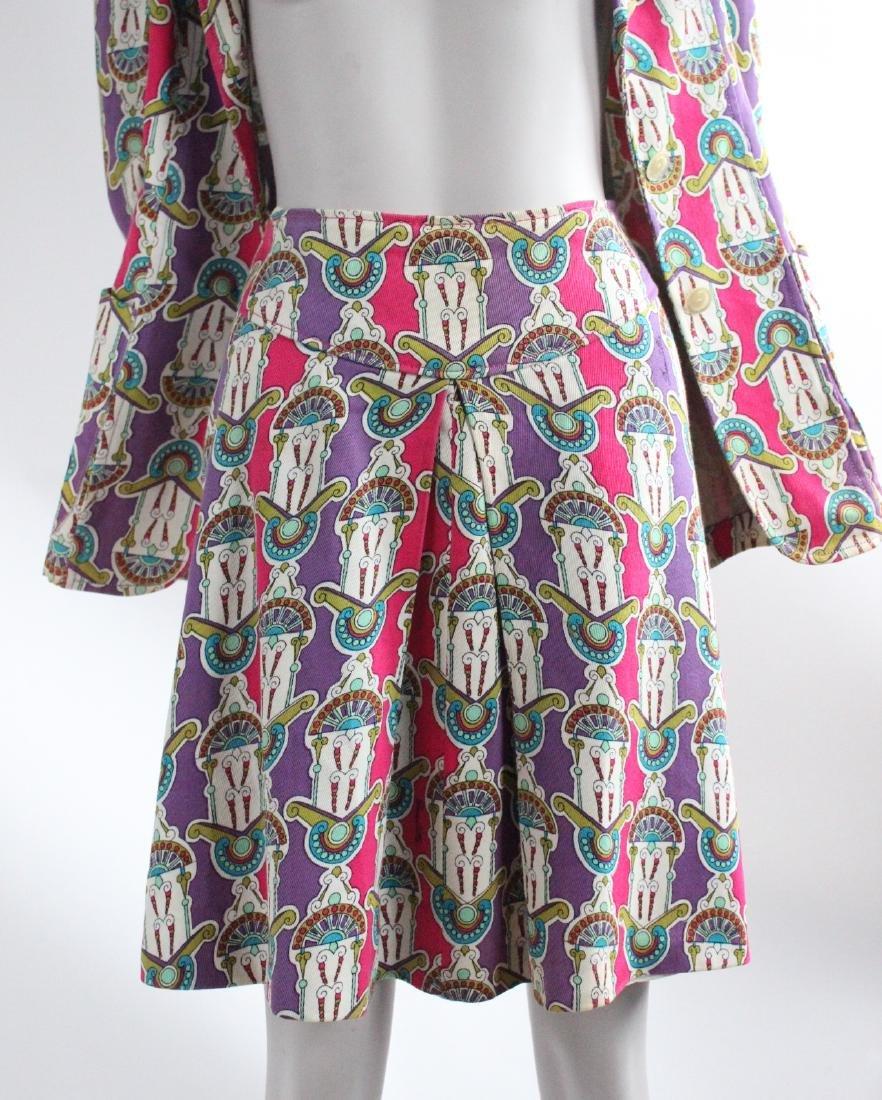 Domitilla Veneziano Printed Cotton Suit, ca. - 3