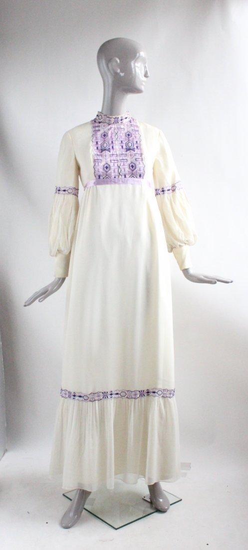 Anne Fogarty Silk Chiffon Maxi Dress, ca.1970's