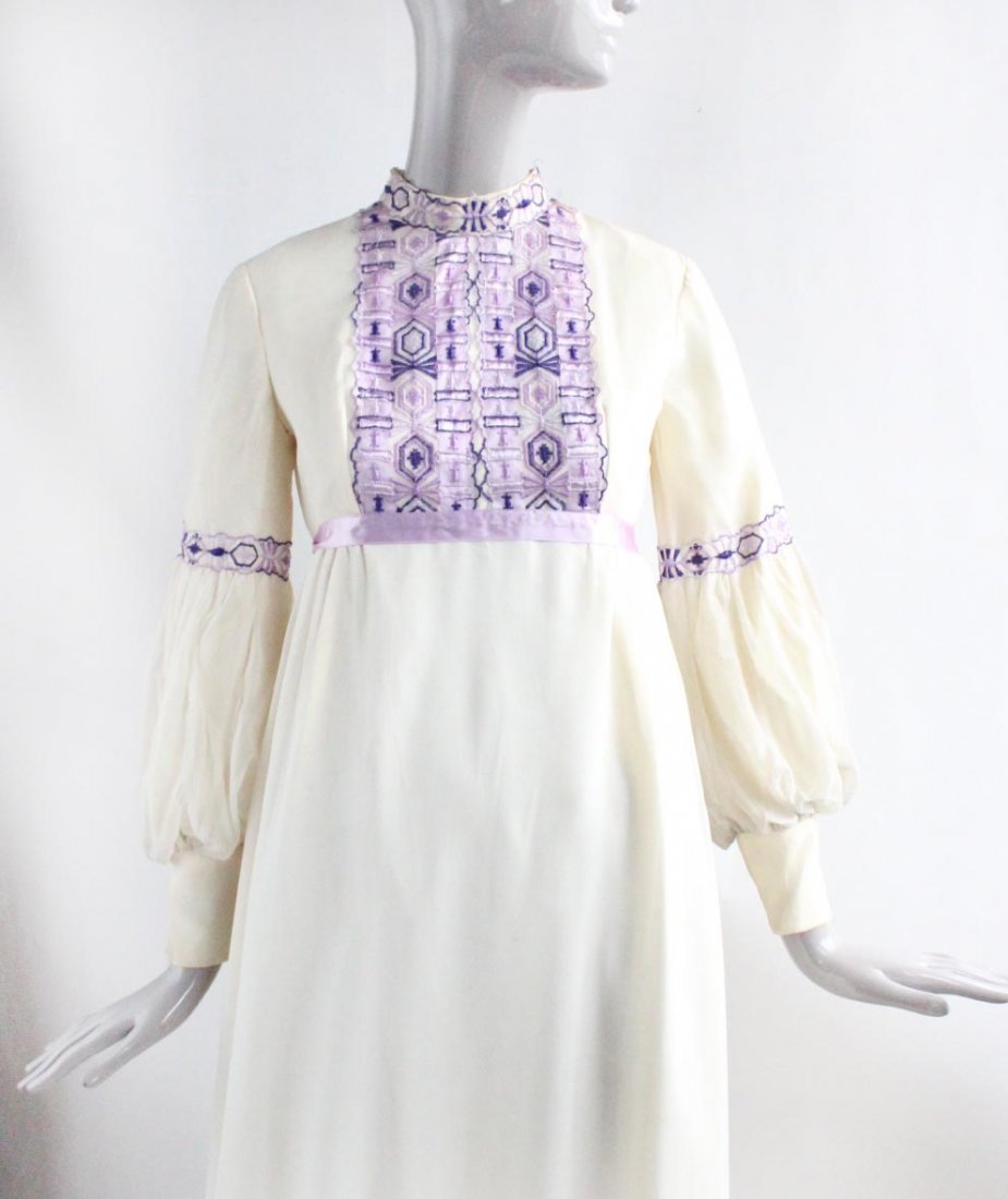 Anne Fogarty Silk Chiffon Maxi Dress, ca.1970's - 2