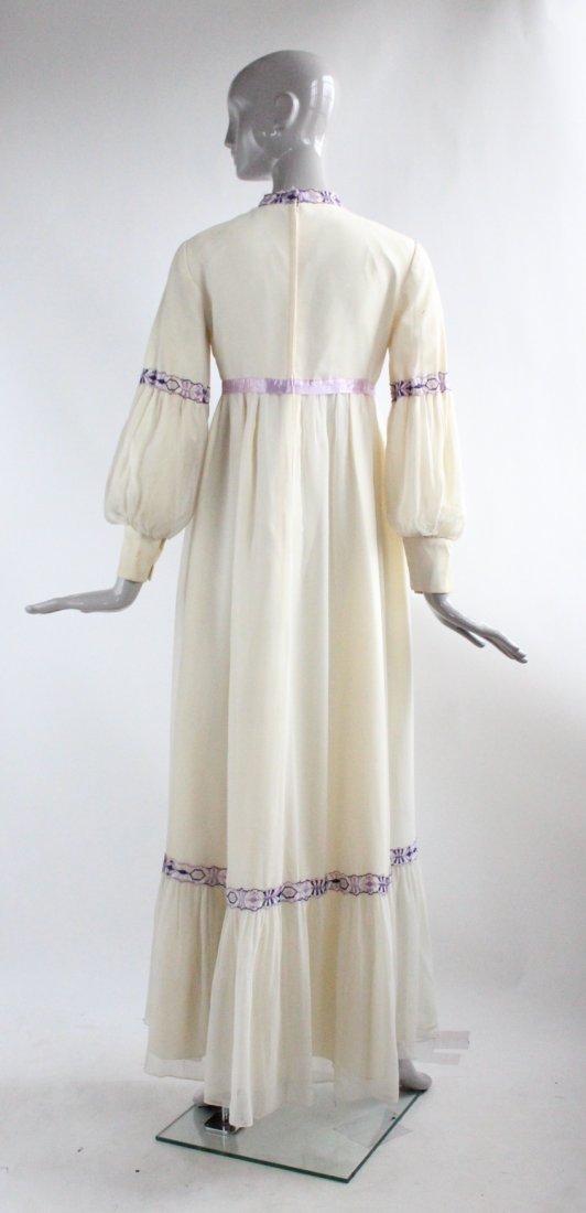 Anne Fogarty Silk Chiffon Maxi Dress, ca.1970's - 3