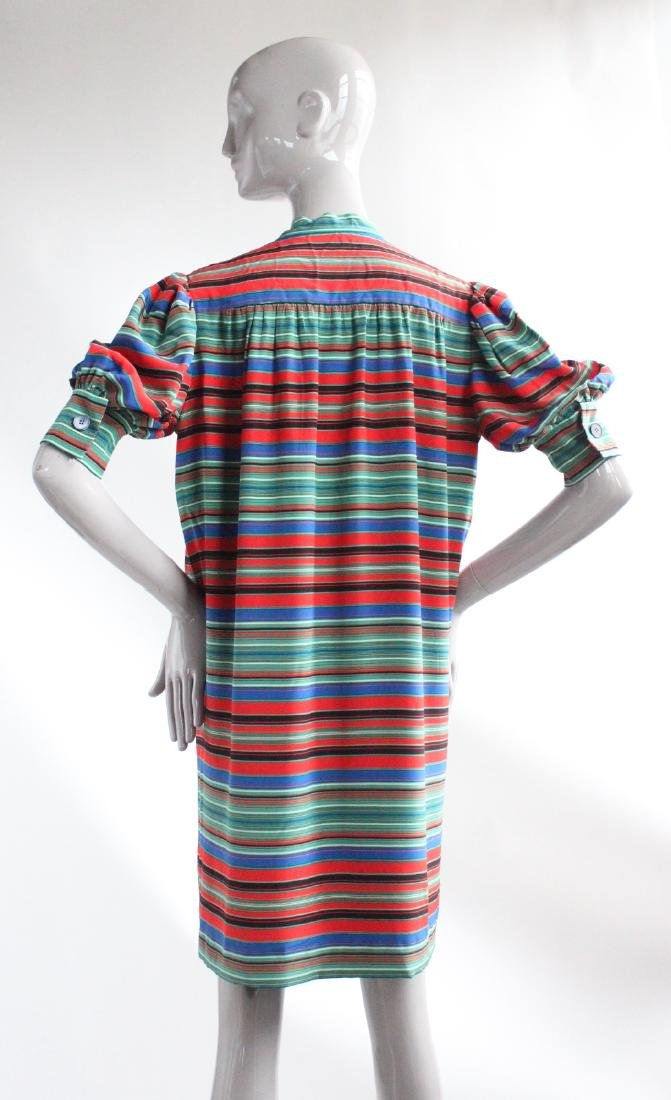 Givenchy Demi-Couture Striped Silk Dress, ca.1970s - 3
