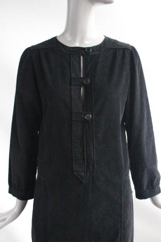 Courreges Black Corduroy Dress, ca. 1970's - 2