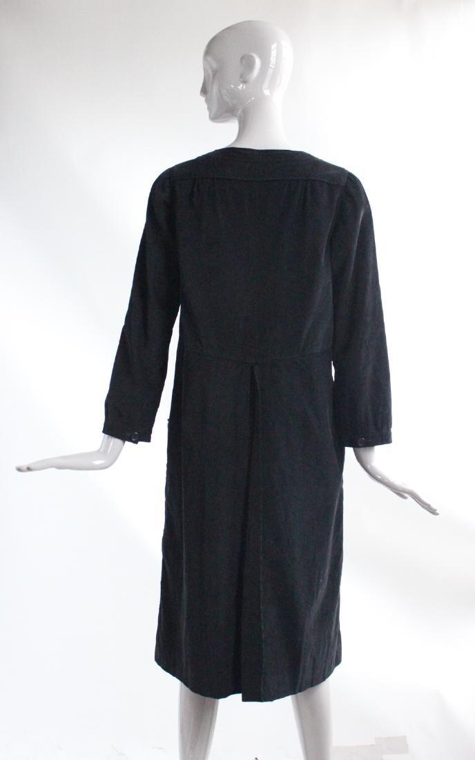 Courreges Black Corduroy Dress, ca. 1970's - 3