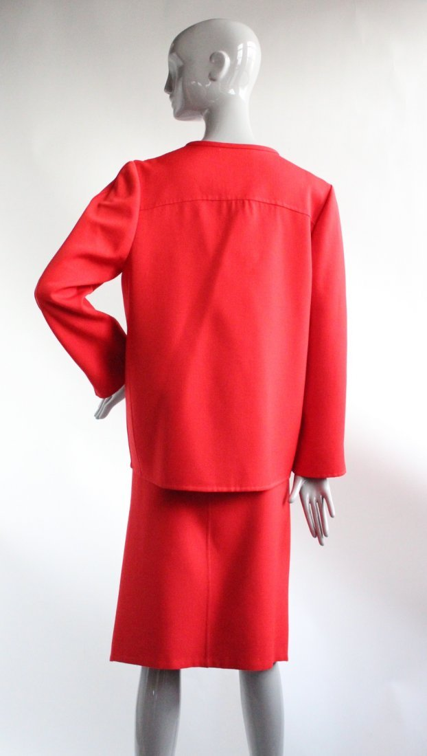 Andre Laug Couture Red Wool Suit, ca. 1970's - 2