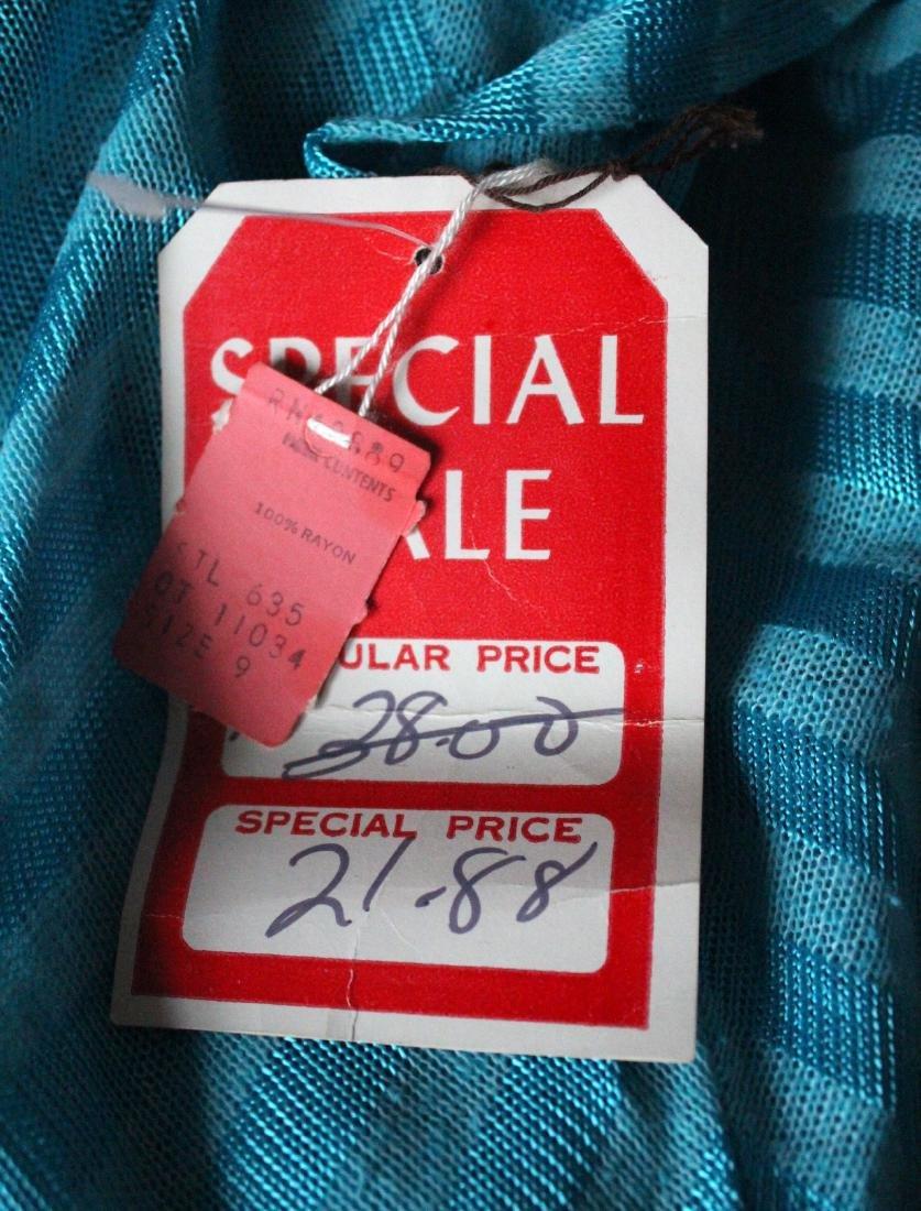 Blue Striped Bias Cut Knit Dress, ca.1970's - 3