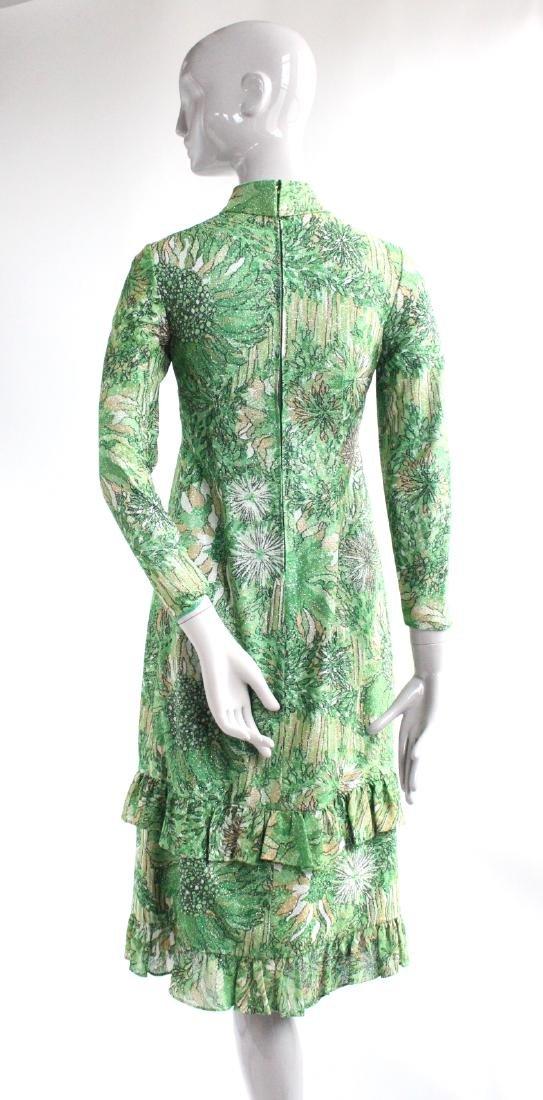 Galanos Green Lurex Blend Knit Dress, ca.1970's - 3