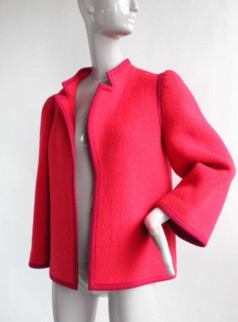 Lanvin Haute Couture Red Wool Coat, ca. 1970's